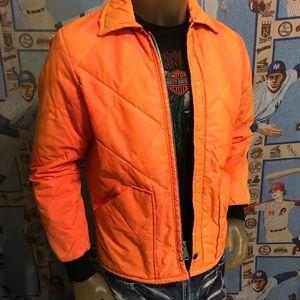 Vintage Distressed Stained Hunter's Orange Jacket
